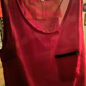 Tops - Gorgeous dark red sheer tank
